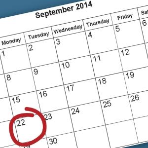September 22nd Deadline Fast Approaching