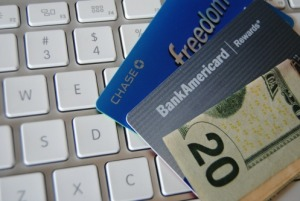 Credit cards & keyboard